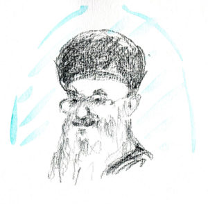 Croquis de l'Ayatollah Kamenei